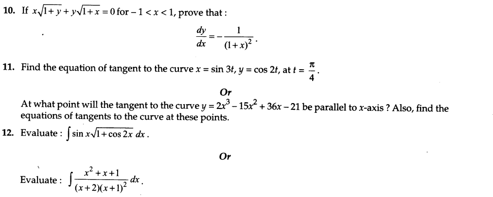 CBSE Sample Papers for Class 12 Maths Solved 2016 Set 10-5