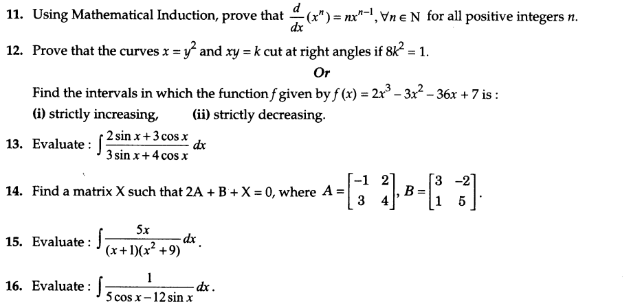 CBSE Sample Papers for Class 12 Maths Solved 2016 Set 9-4
