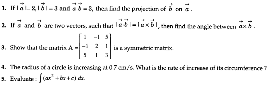 CBSE Sample Papers for Class 12 Maths Solved 2016 Set 9-1