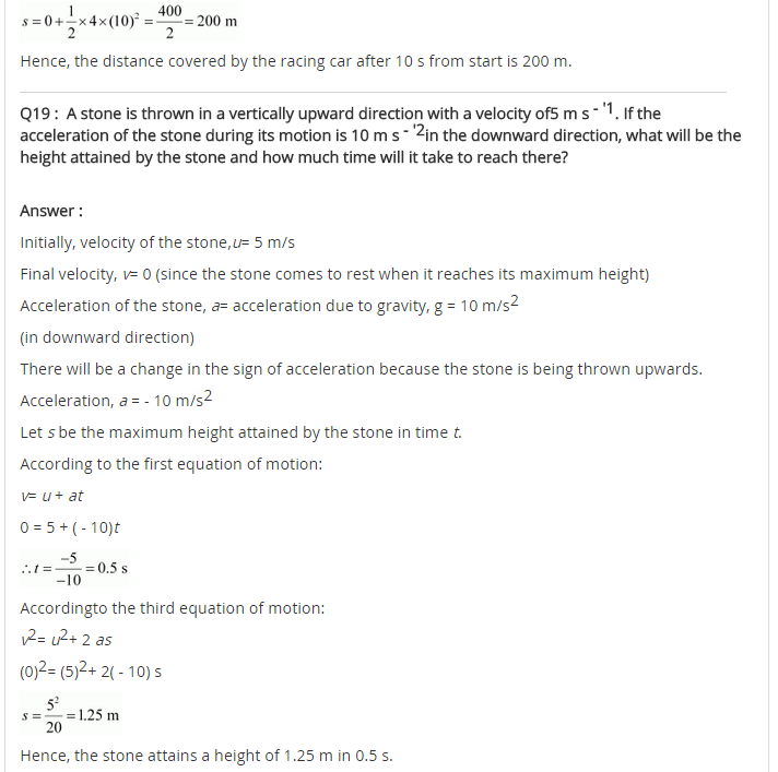 NCERT Solutions For Class 9 Science Chapter 8 Motion