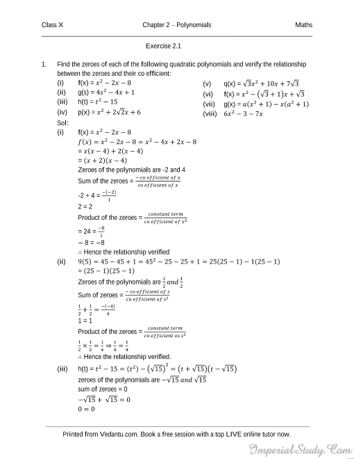 10th Class Maths Pdf