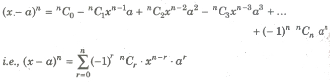 CBSE Class 11 Maths Notes Binomial Theorem and Mathematical Induction