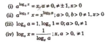 CBSE Class 12 Maths Notes Logarithm