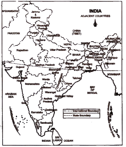 NCERT Solutions for Class 9th Social Science Geography : Chapter1 India - Size and Location